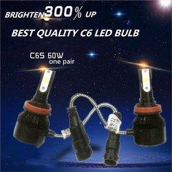 Самый дешевый DLAND C6S авто комплект светодиодных ламп освещения 60 Вт 6400LM фар лучший C6 светодиодный светильник преобразования H1 H3 H4 H7 9006 9005 H8 H11 ...