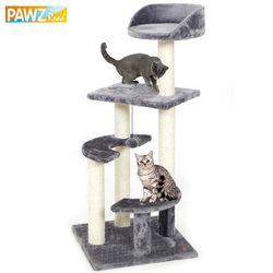 Pawzroad entrega doméstica H100 gato escalada árbol juguetes arañazos de madera sólida gatos marco subida buena calidad PET supplies 3 colores
