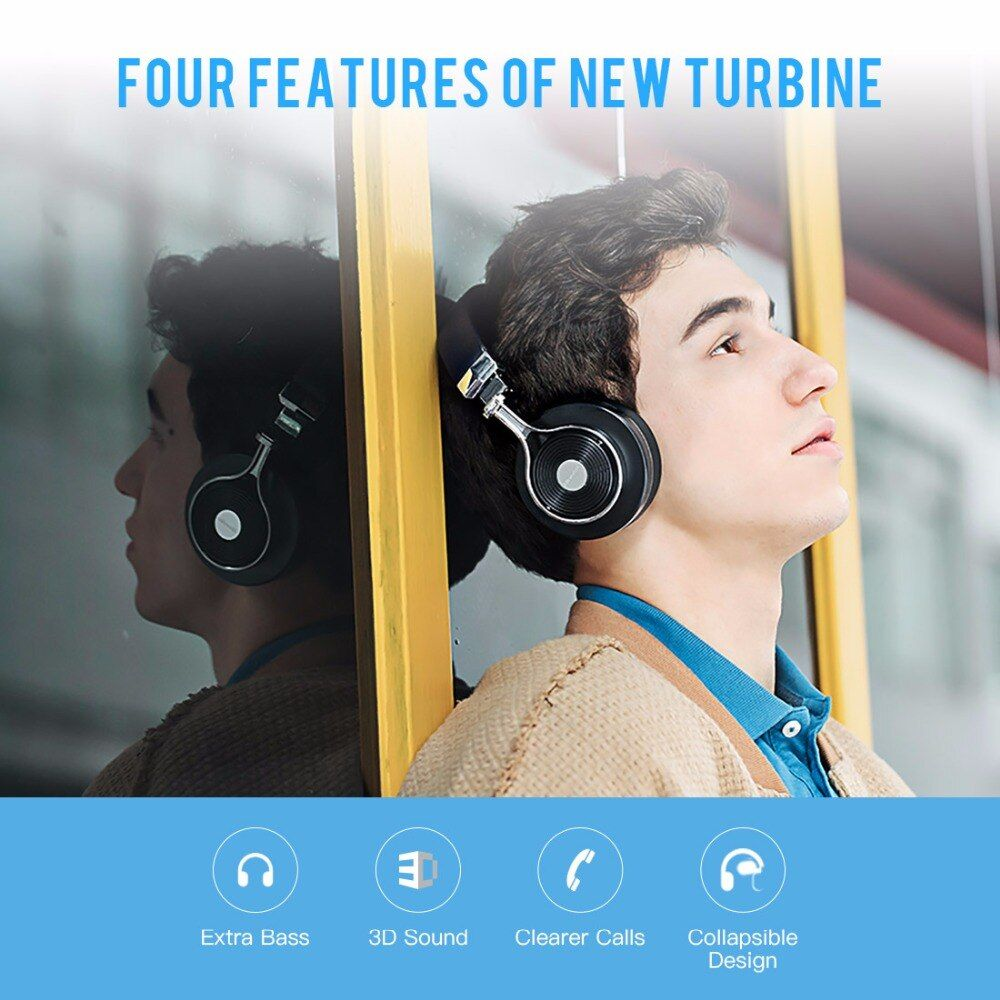 Bluedio T3 Bluetooth headphones BT4.1 stereo and rich bass Bluetooth headset wireless headphones for phones music earphones