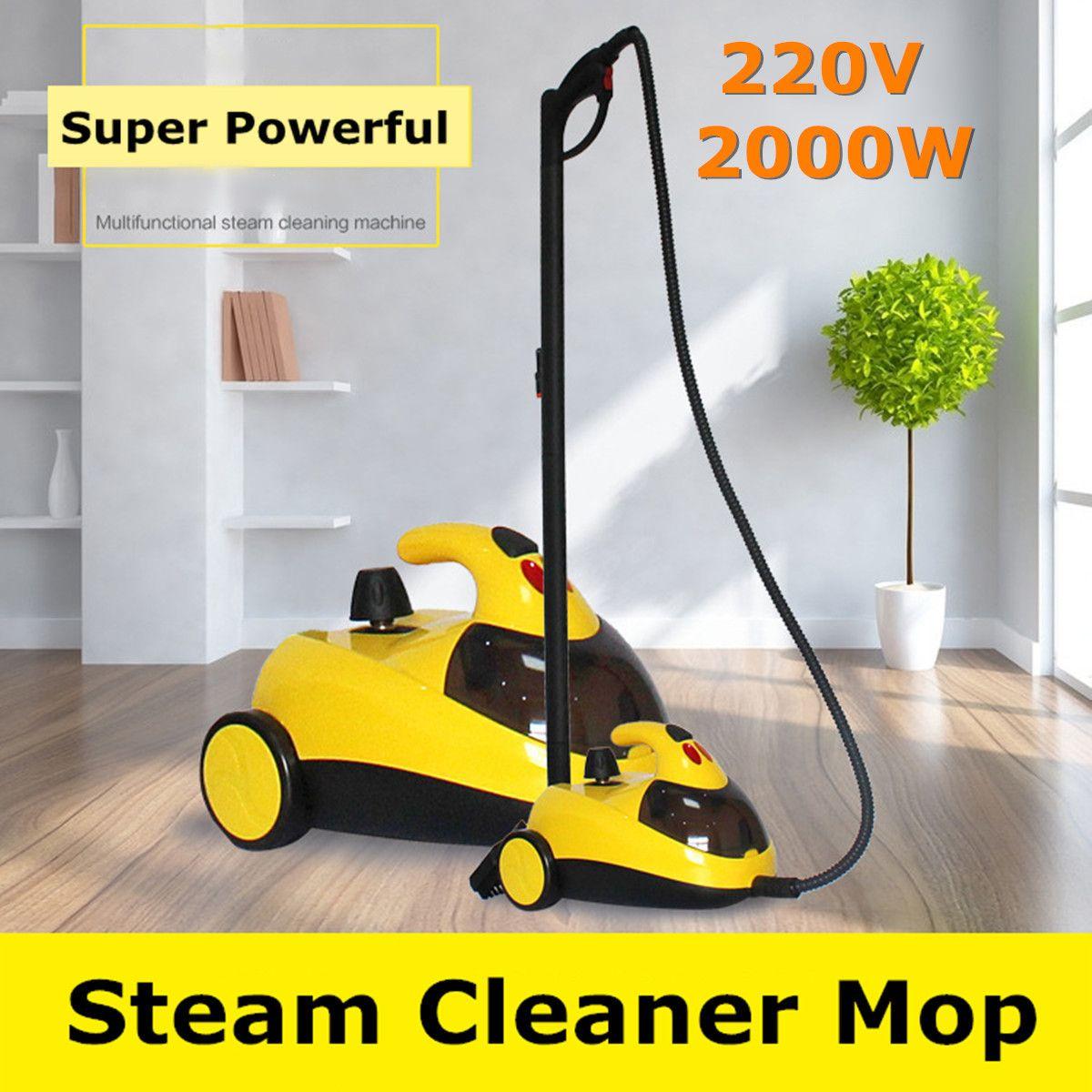 Boden Teppich Reiniger 13in1 AU220V 1.5L4.0 2000 watt Bar Hochdruck Dampf Washer Reinigung Maschine 360 Rad für Sauberes Bad auto
