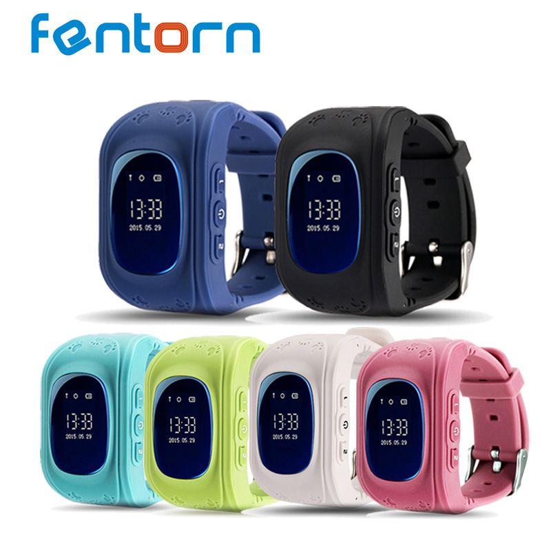 Fentorn Q50 GPS Kid Safe smart Montre SOS Call Lieu Finder Locator Tracker Enfants montre pour Enfant Anti Perdu Bébé montre-bracelet