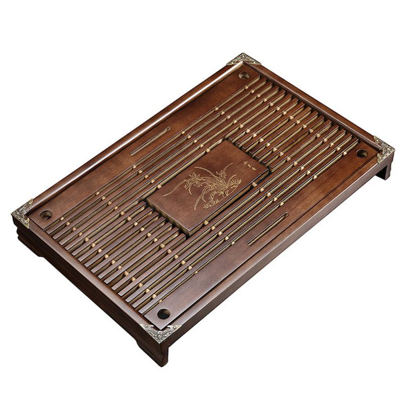Solid Wood Tea Tray Drainage Water Storage Kung Fu Tea Set Drawer Tea Board Table Chinese Tea Ceremony Tools
