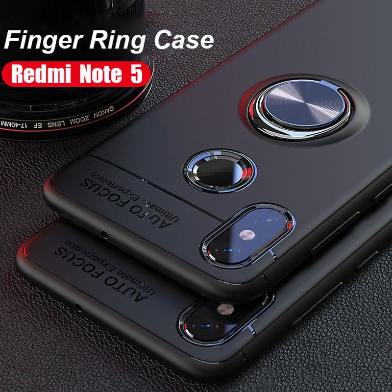 New 2018 Finger Ring Stand Car Holder Case Xiaomi Redmi Note 5 Pro Note 5 Note 5A Redmi 5A Back Cover Silicone Case Redmi Note 5