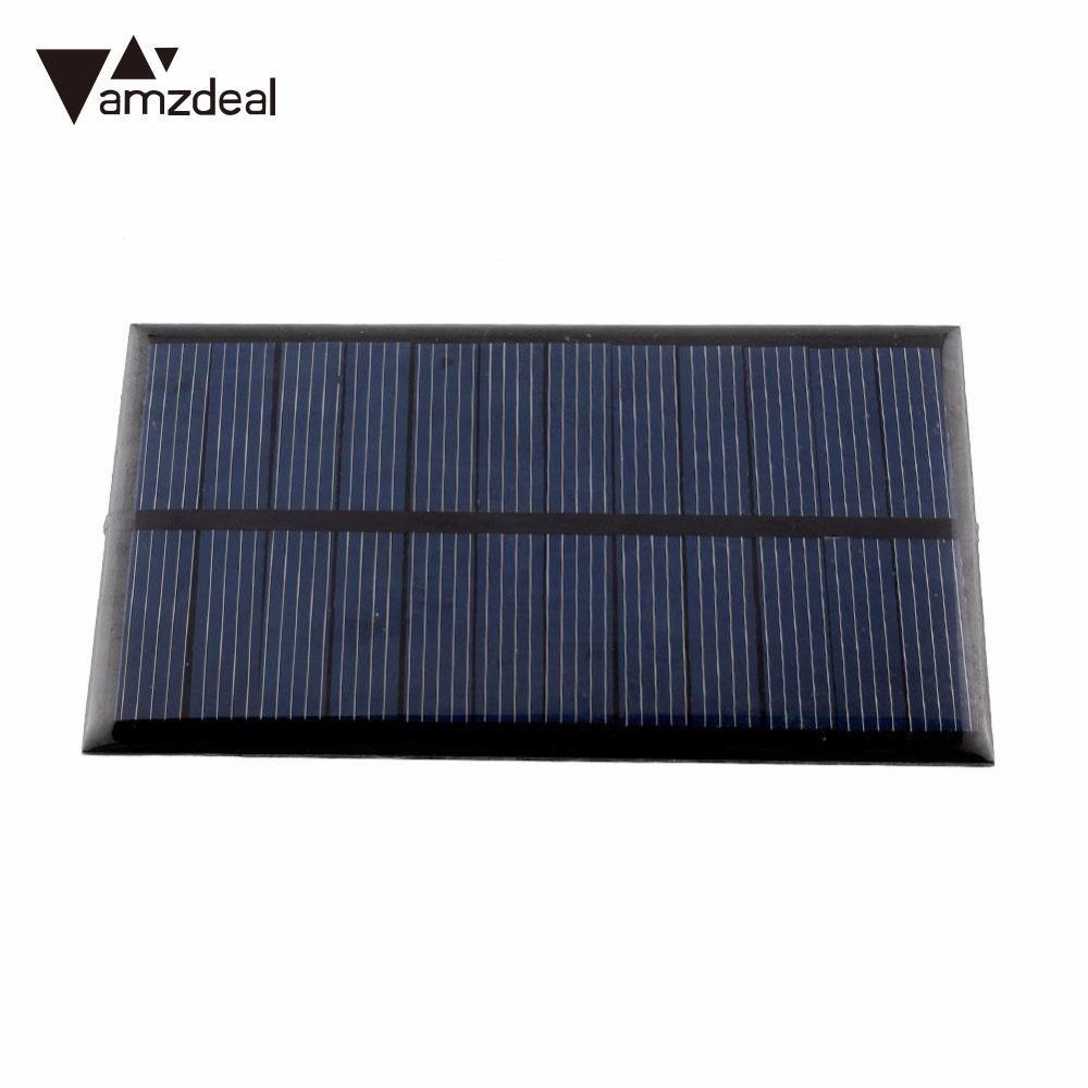 Amzdeal Neue 80 stücke 6 V 1 Watt Solarpanel Modul DIY Für licht Batterie Handy-ladegeräte Outdoor Powerstromversorgung Solar Bord