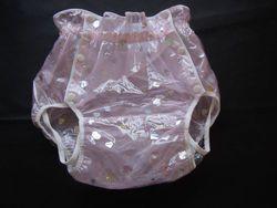 Livraison Gratuite FUUBUU2221-Pink fil Étoiles adulte bébé couche adulte bébé pantalon en plastique pour bébés pantalon adulte bébé onesie abdl