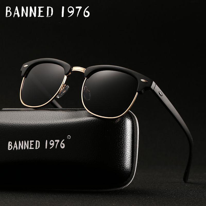 UV400 HD Polarized men women Sunglasses Classic fashion retro Brand Sun glasses Coating Drive Shades gafas De Sol Masculino