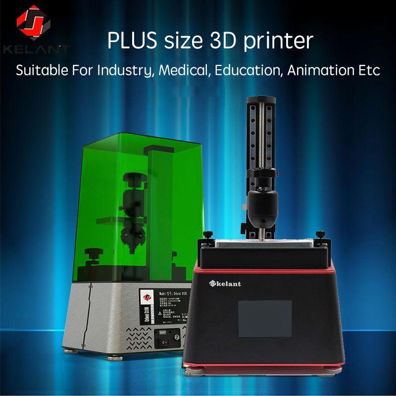 Kelant 3D Drucker PLUS laser UV Photon Harz SLA Licht-Heilung 3,5 ''Desktop Impresora 405nm DLP 3d drucker diy kit impressora