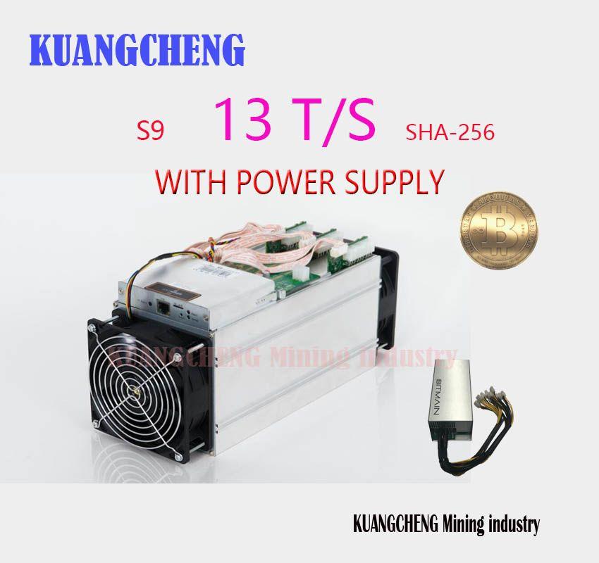 KUANGCHENG NEUE BITMIAN S9 13TH/S (mit APW3 + + 1600 watt Miner der Power) asic Miner Bitcoin BTC Bergbau AntMiner S9 16nm Btc Miner der