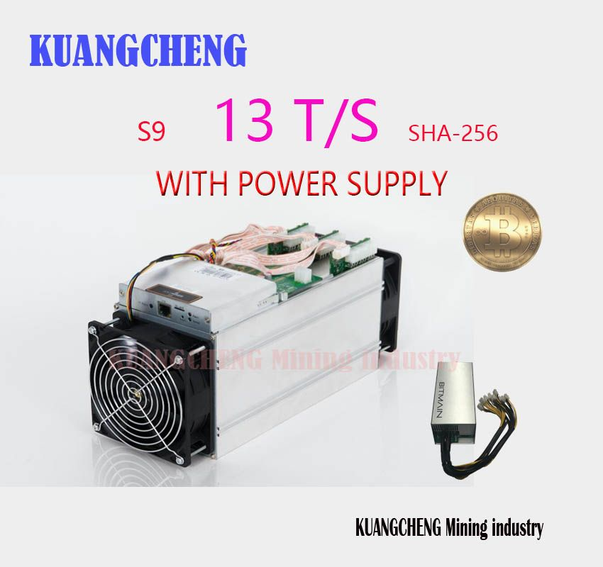 KUANGCHENG NEW BITMIAN S9 13TH / S (with APW3 ++ 1600W Miner's Power) Asic Miner Bitcoin BTC Mining AntMiner S9 16nm Btc Miner's