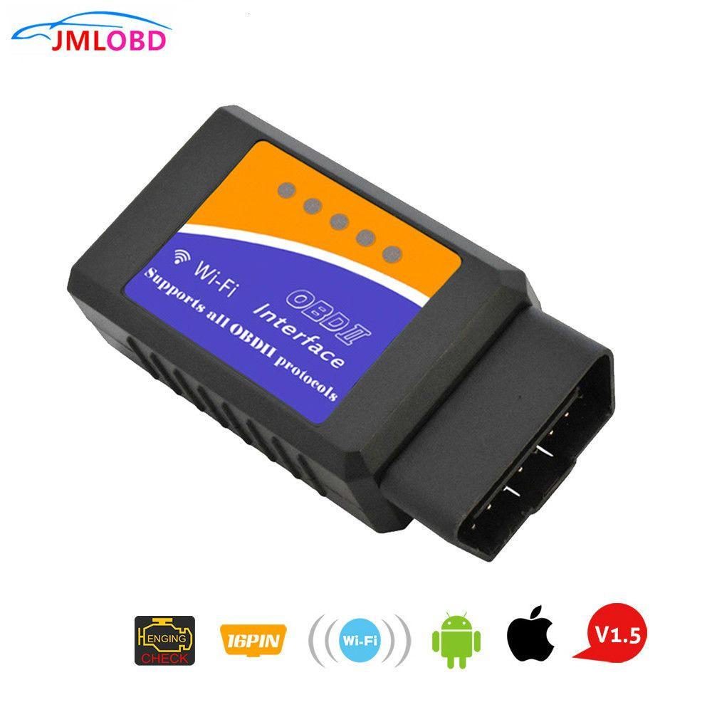 Super ELM327 WIFI OBD2 WIFI ELM327 V 1.5 Scanner pour iPhone IOS Auto OBDII outil de numérisation OBD 2 ODB II ELM 327 V1.5 WI-FI ODB2