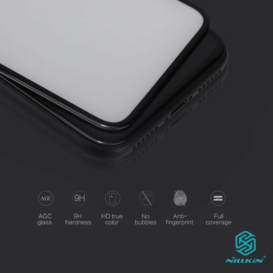 for iphone x screen protector fully covered nillkin 3D CP+ 9H 0.33mm <font><b>thin</b></font> for iphonex tempered glass curved 5.8 inch High Clear