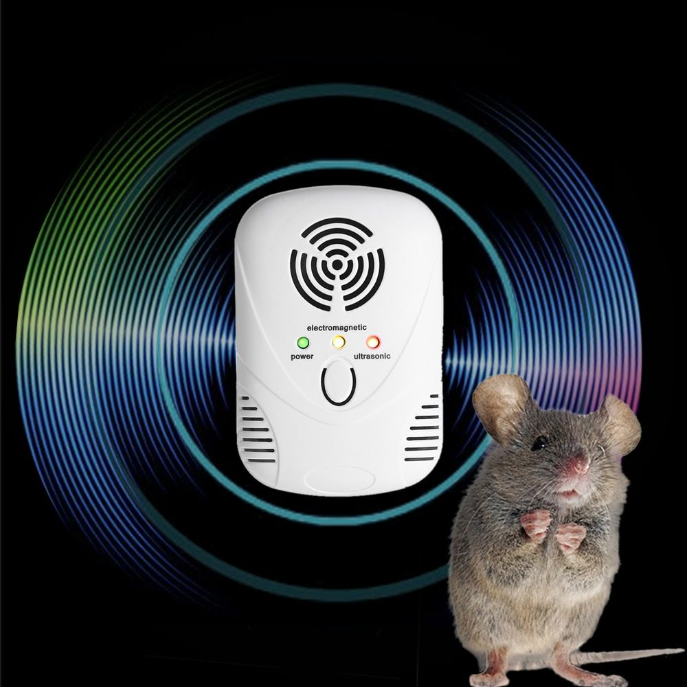 Electronic Ultrasonic/Electromagnetic <font><b>Wave</b></font> Mouse Repeller Rat Repellent Pests with Nightlight Adjustable <font><b>Wave</b></font> Frequency