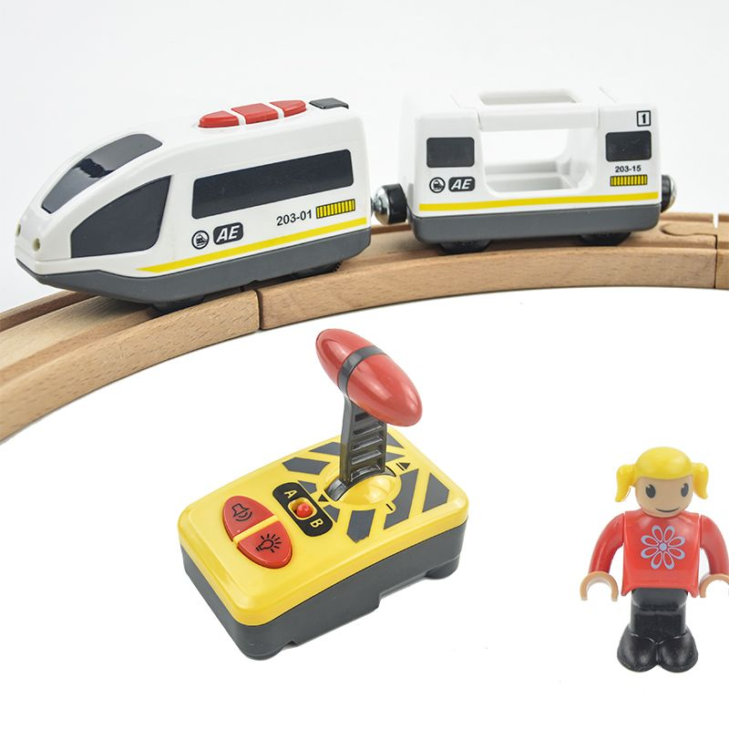RC Electric Magnetic Train With <font><b>Carriage</b></font> Sound and Light Express Truck FIT Thomas wooden track Children Electric Toy Kids Toys