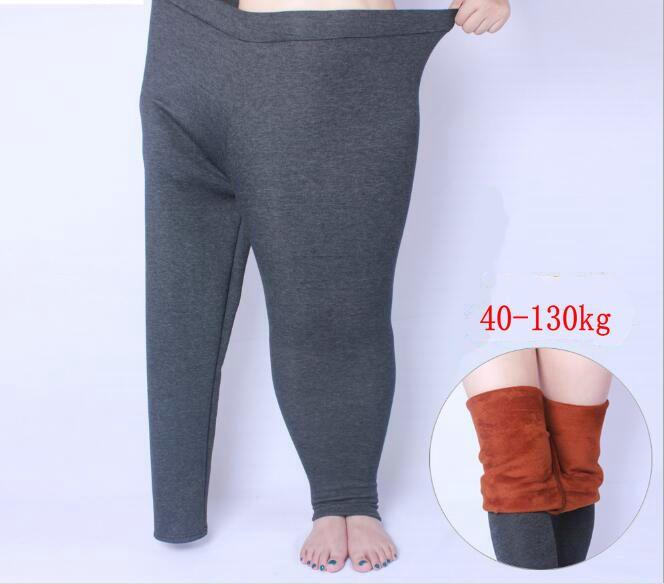 Winter Thick Legging Large size XL- 6XL for Elastic Soft Show Women All-match Black Leggings Plus Size cotton thicken soft Pants
