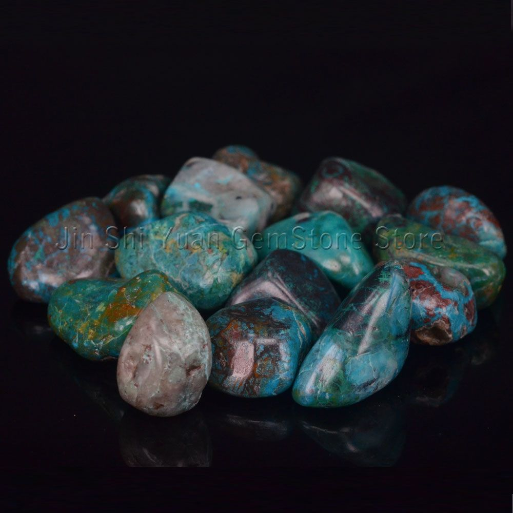 Bulk Tumbled Chrysocolla Stone Natural Polished Gemstone Supplies for Wicca, Reiki, Crystal Healing