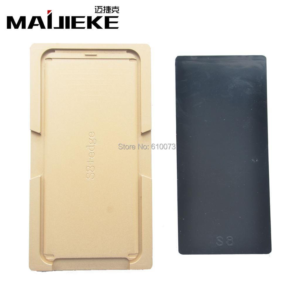 MAIJIEKE LCD Schimmel schimmel Pad Matte Für Samsung S8 Rand Plus LCD Touchscreen Reparatur Maschine Laminator Lage