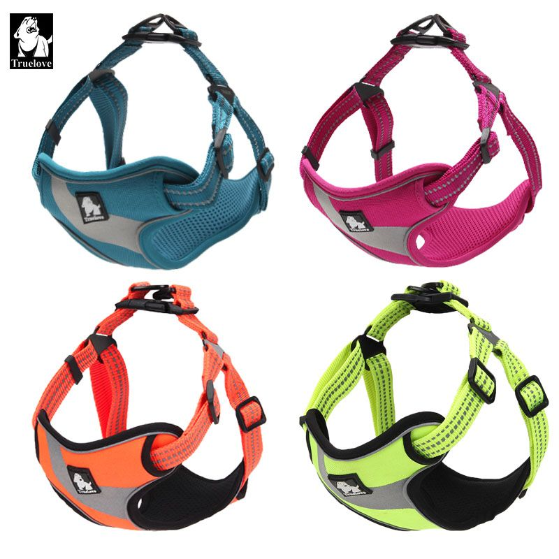 Truelove Adjustable Easy on Dog Pet harness Outdoor Adventure Reflective Dog Halter <font><b>Protective</b></font> Nylon Walking Dog Harness Vest