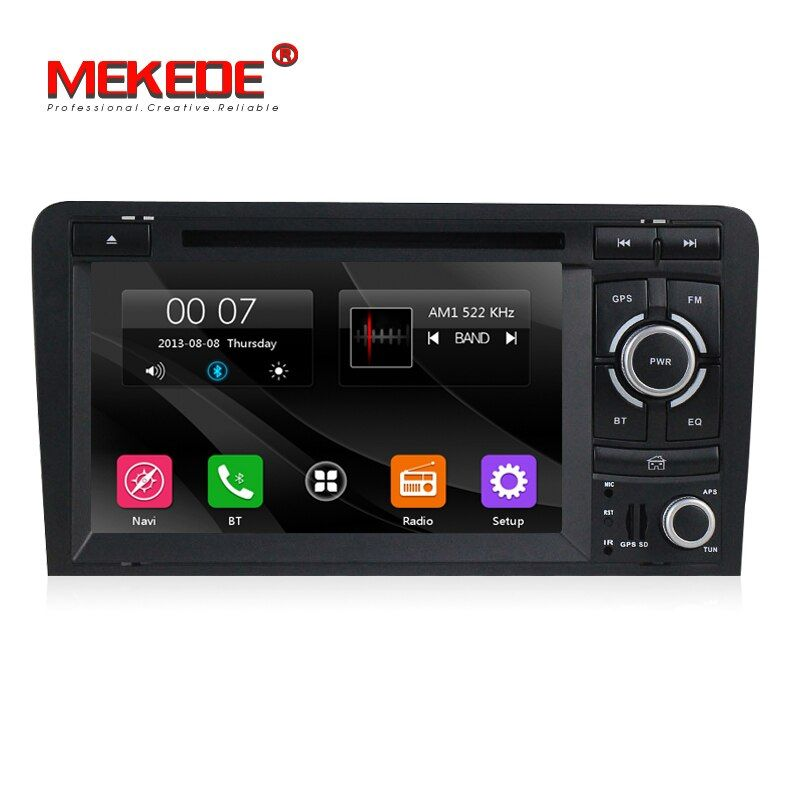 MEKEDE Lowest price wince6.0 system Car Multimedia player car gps dvd player for Audi A3 S3 2003-2013 support canbus bluetooth