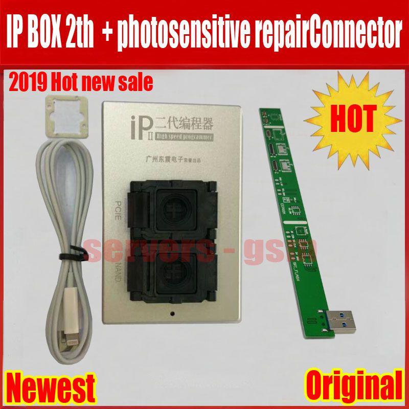 2019 neue IPBox V2 IP BOX 2th NAND PCIE 2in1 Hohe Geschwindigkeit Programmierer + lichtempfindliche repairConnector + für iP7 Plus /7/6 S/6plu/5 S/5C/5