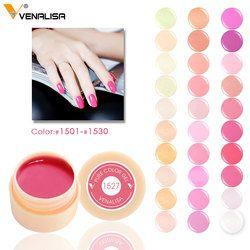 Vente chaude 5 ml LED et UV Nail Gel 180 Pur glitter Couleurs Peut choisir Nail Art Peinture Gel Soak off gelpolish nude nail couleur gel