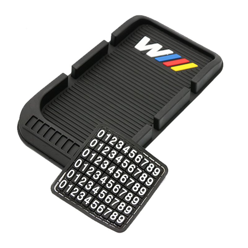 ///M Logo 3D Car Phone Non-Slip Mat with Phone Number Support Holder Mounts GPS Sat Nav For BMW  M M3 M5 M Power