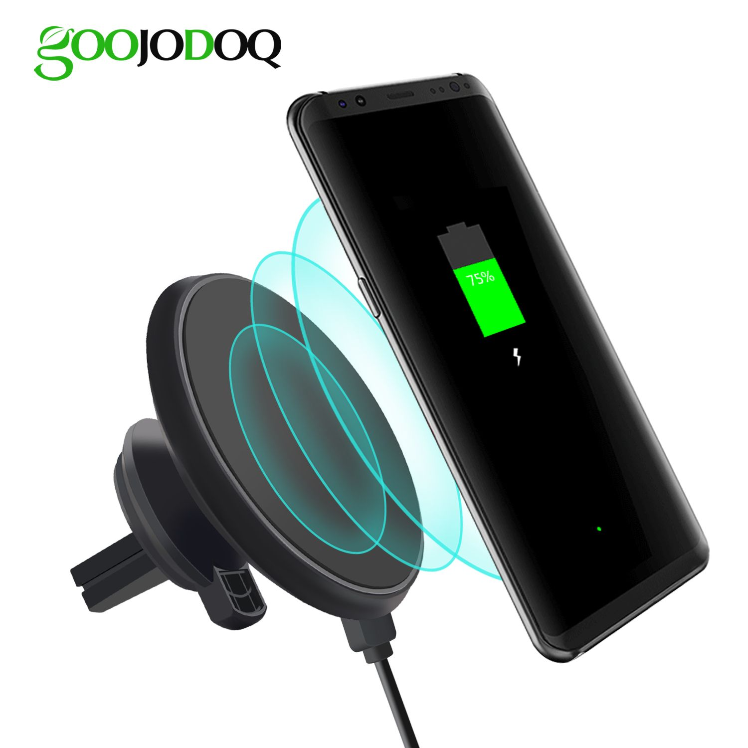 Magnetic QI Car Wireless Charger For iPhone 8 iPhone X Samsung S8 S8 Plus S7 Edge S7 Wireless Car Charger Air Vent Stand
