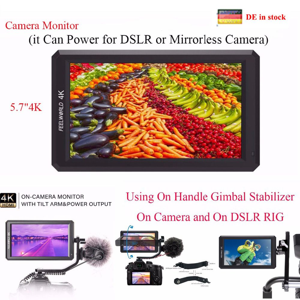 (can ship from Germany) Feelworld F6 5.7