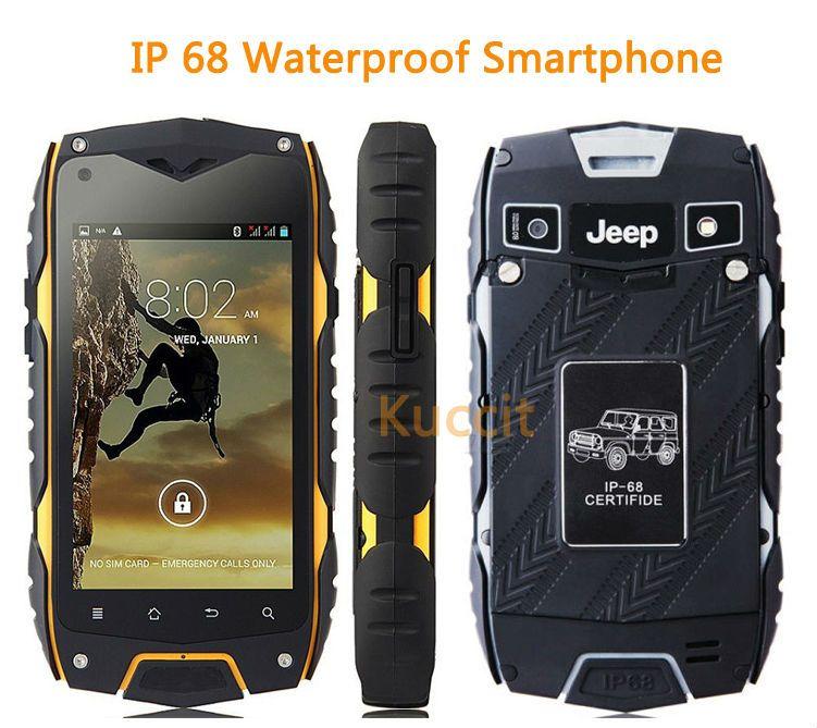 original China Cheapest Z6 MTK6572 Dual Core Rugged Android Smartphone IP68 Waterproof Shockproof Dustproof phone 3G GPS
