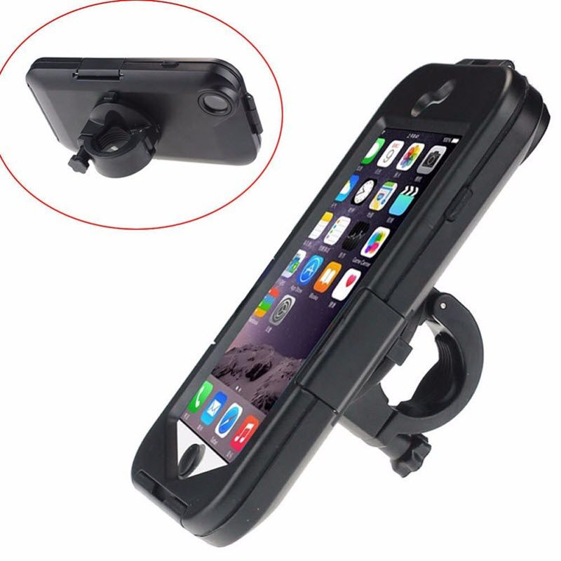 New Auto Waterproof Motorcycle Bike Bicycle Handlebar Mount Phone Holder Case soporte for Apple iPhone 6 6G iphon6 6S i6 4.7inch