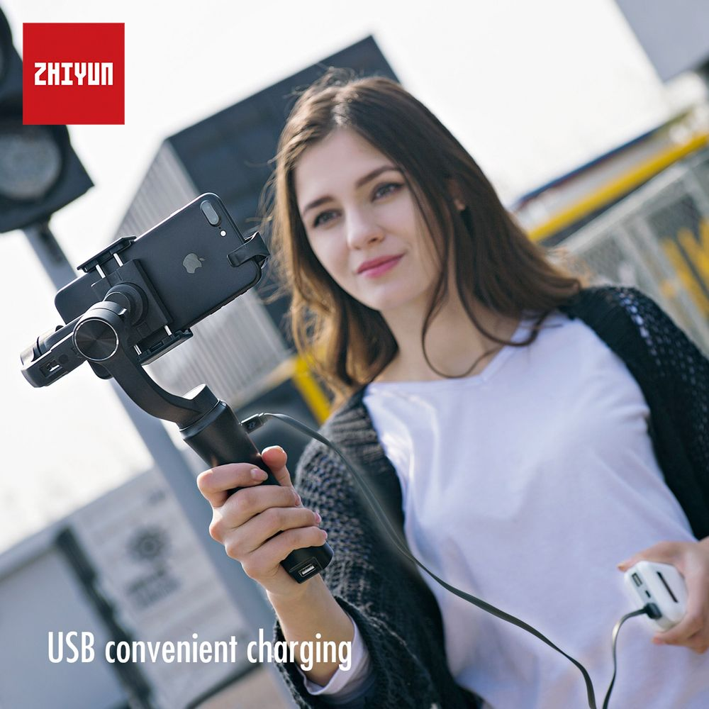 zhi yun Zhiyun Official Smooth Q Handheld Gimbal stabilizer 3-Axis Smartphone Stabilizer for iPhone Samsung Huawei Xiaomi