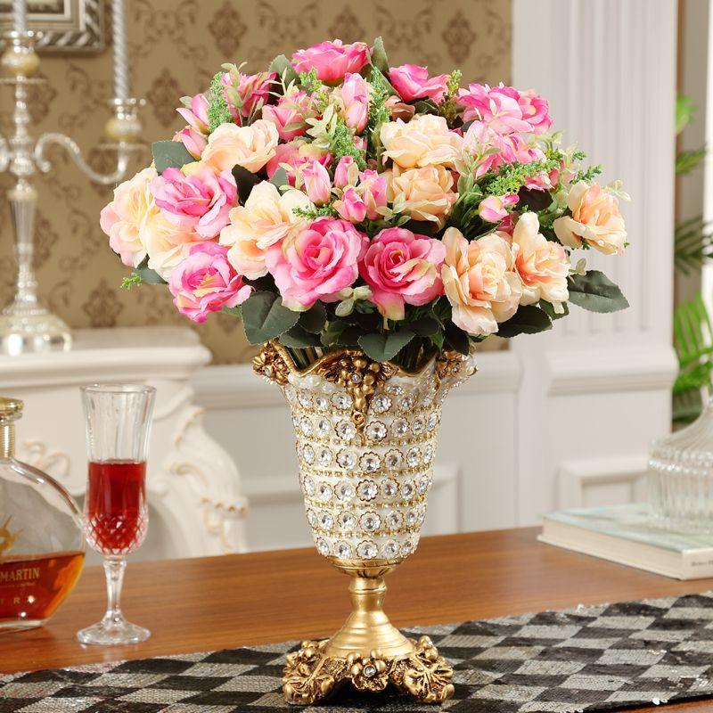 Diamond Смолы Ваза Европейский творческий смолы ваза высококачественные модные украшения Бытовая Гостиная таблице место цветок