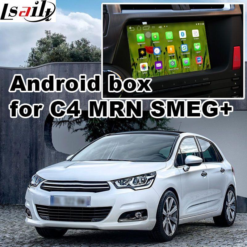 Android 6 GPS navigation box for Citroen C4 C5 C3-XR MRN SMEG+ system video interface box mirror link quad core waze iGO yandex