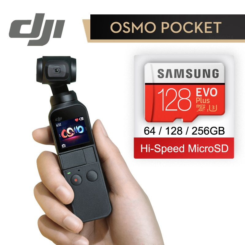 DJI Osmo Pocket 3-axis Stabilized Handheld Camera With 4K 60fps Video Mechanical Stabilization Intelligent Shooting In Stock