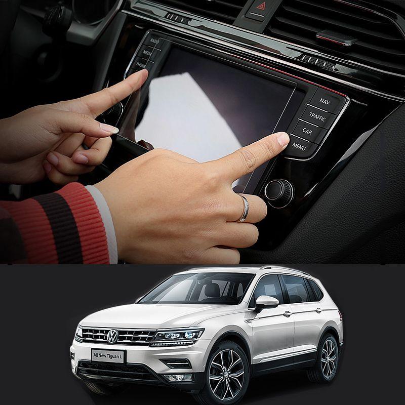 Car Navigation GPS Screen Glass Steel Protective Film For Volkswagen VW Tiguan MK2 2017 2018 2016 Control of LCD Screen <font><b>Sticker</b></font>