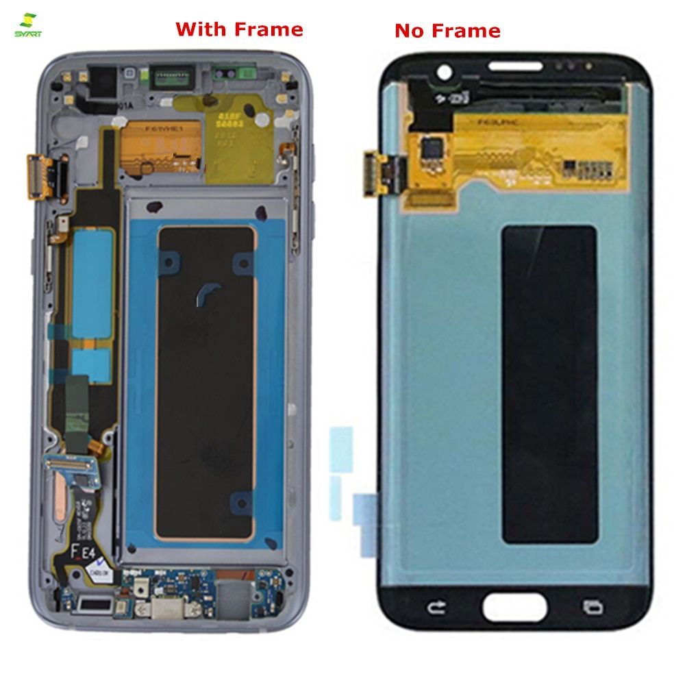 S7 Edge 5.5'' AMOLED Lcd For SAMSUNG Galaxy S7 edge LCD Display Screen G935 G935F Lcd Touch Digitizer LCDs Assembly Replacement