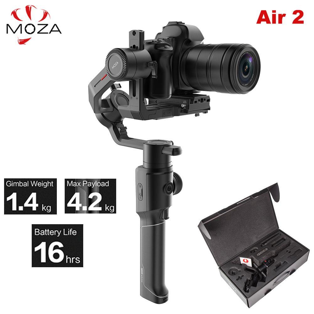 Moza Air 2 Air2 3-Achse Handheld Gimbal Stabilisator Maxload 4,2 kg für Sony Canon DSLR PK DJI Ronin S Zhiyun Weebill LABOR Kran 2