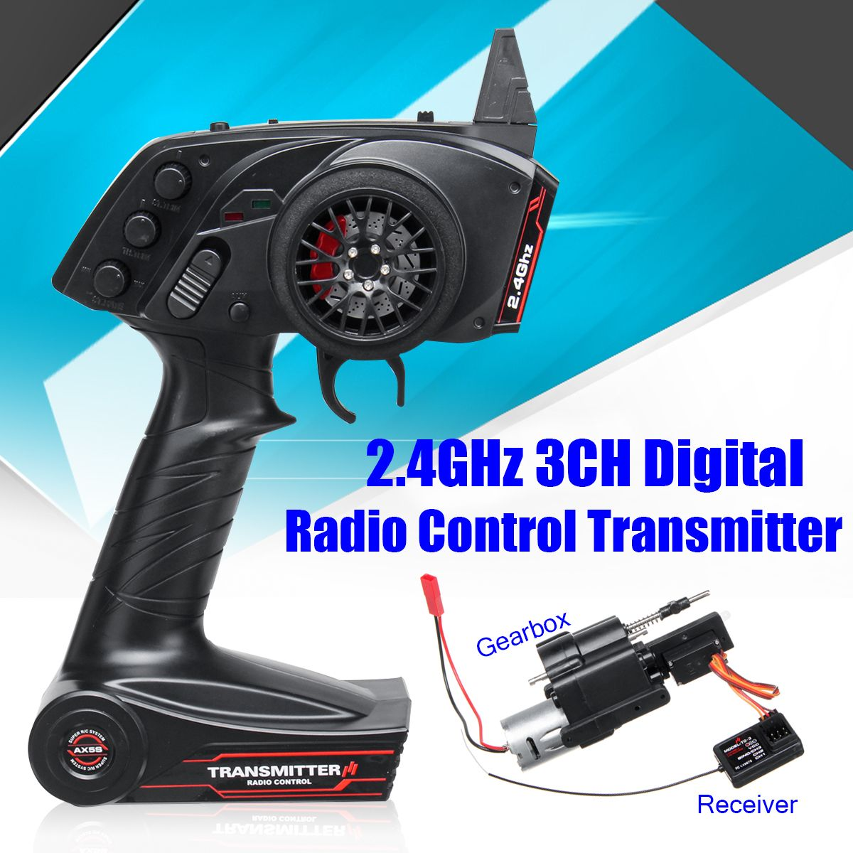 Rc Car Radio Transmitter And Speed Change Gear Box Throttle Limit Range For WPL 3CH B1 B24 B16 C24 1/16 4WD 6WD Super Active