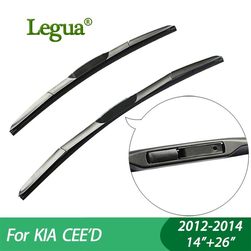 Balais d'essuie-glace pour voiture Legua pour KIA CEED (2012-2014), 14