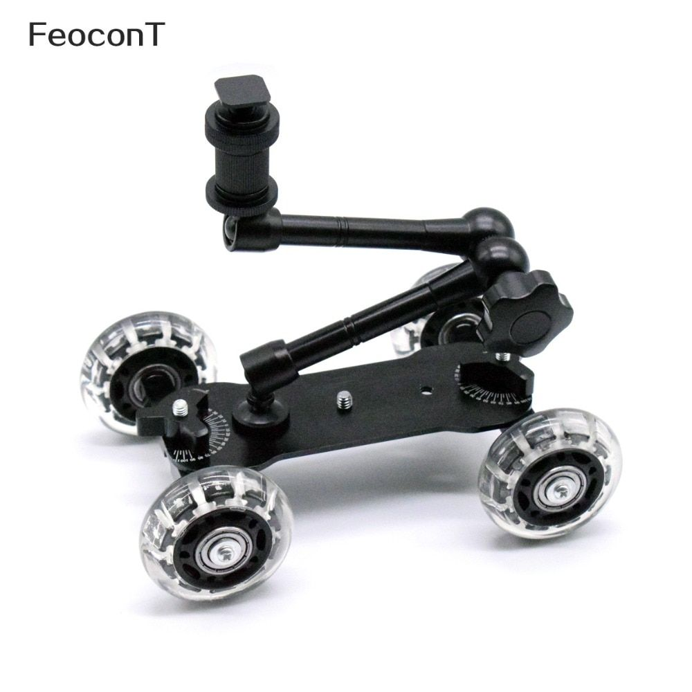 Mobile Rolling Sliding Dolly Stabilizer Skater Slider + 11