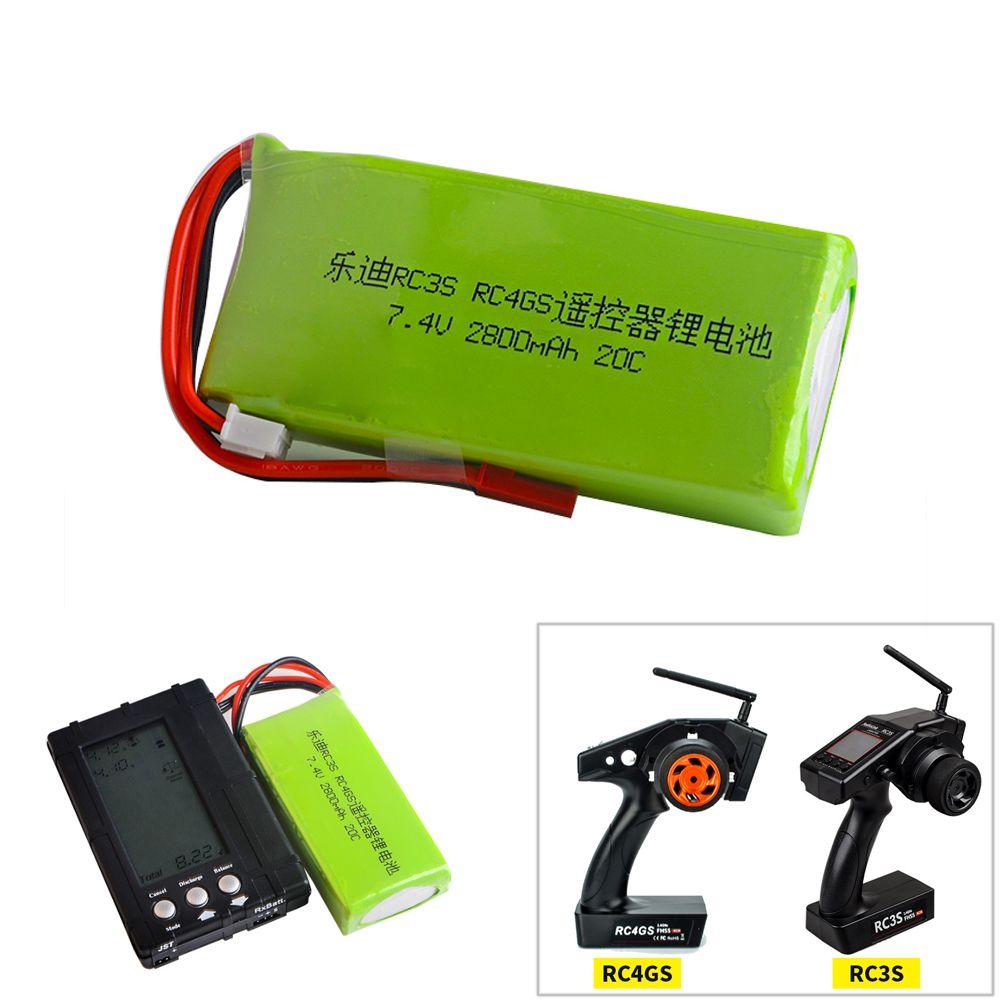 1 stücke Li-Polymer 2 S 7,4 V 2800 mah 20C Lipo Batterie Für Radiolink RC3S RC4GS RC6GS Sender