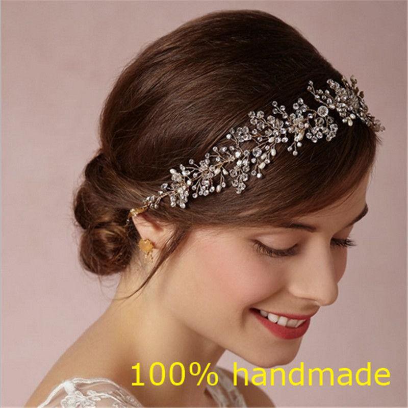 Magnifique Cristal De Mariée Bandeau De Mariage Strass Bandeaux Cheveux Accessoires De Mariée diadèmes Mariée Ruban Bandeaux RE597