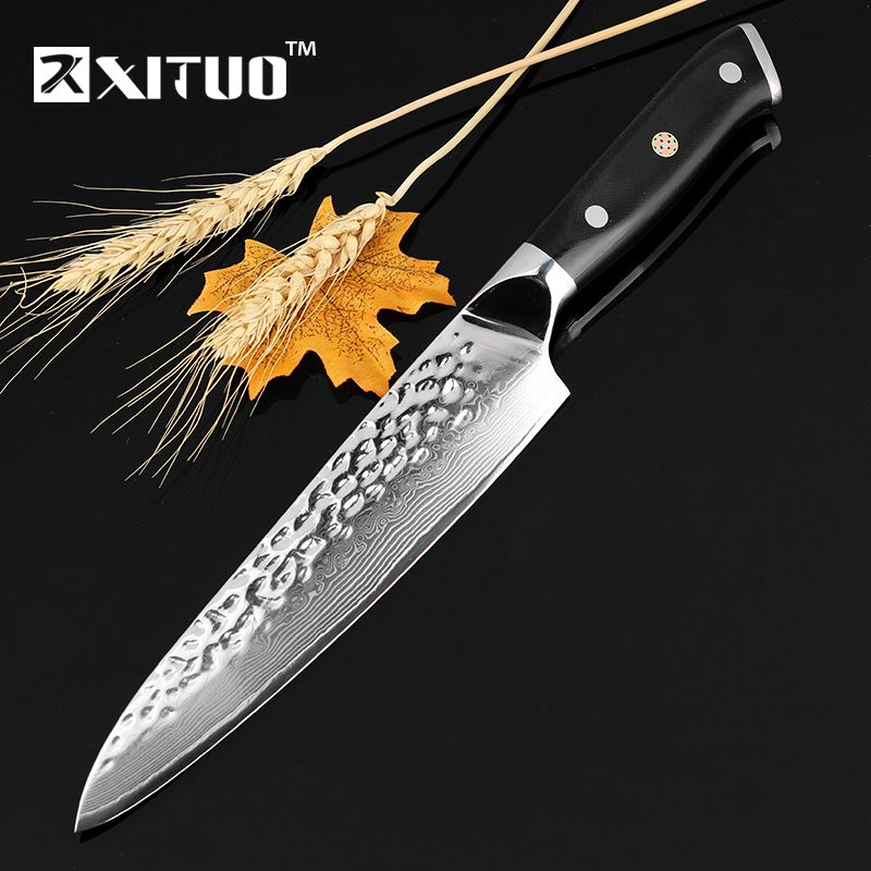 Xituo Дамаск Сталь шеф-повар Ножи 67 слоев японского VG-10 Дамаск Сталь Кухня Ножи 8