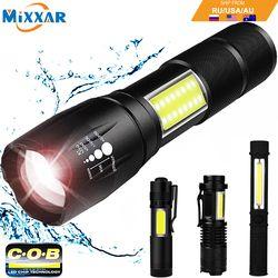 Дропшиппинг COB светодиодный фонарик супер яркий водонепроницаемый ручной фонарик карманный брелок рабочий свет для аварийной ситуации без...