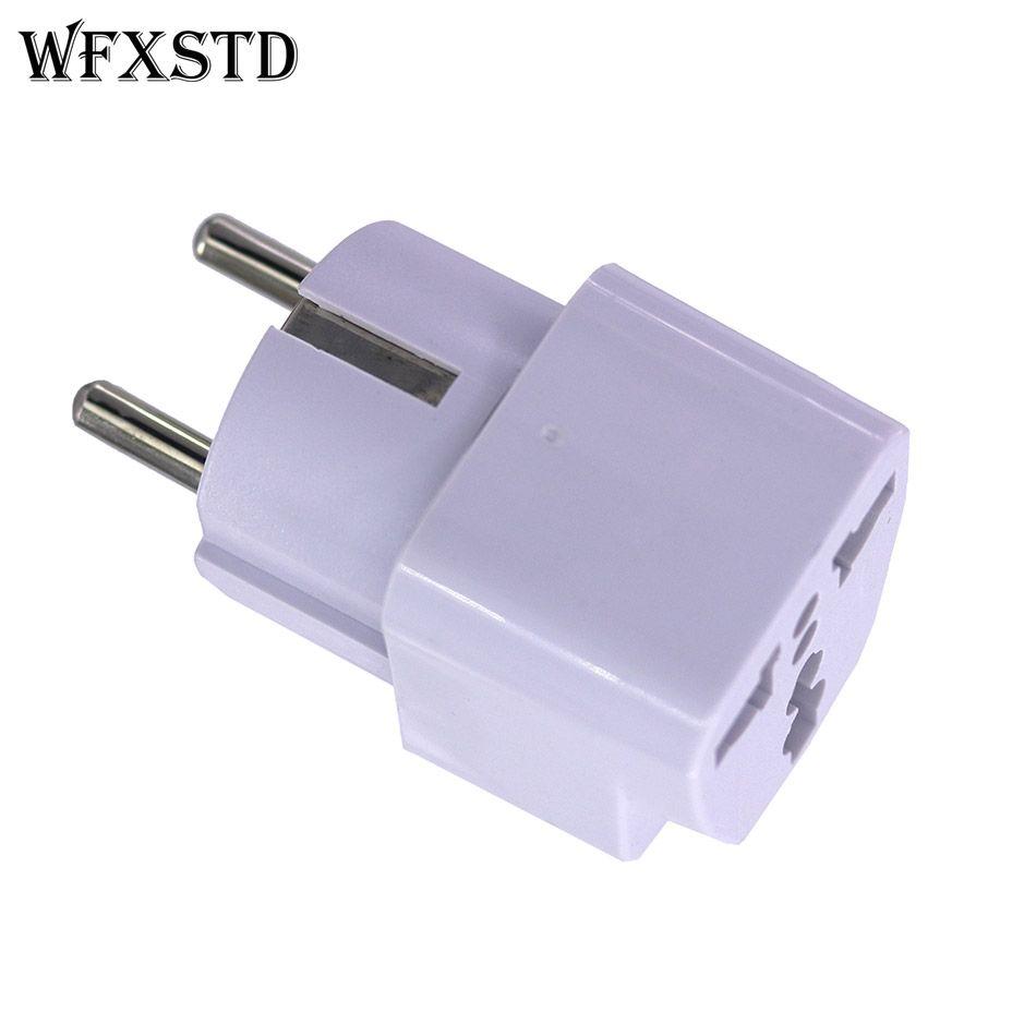 WFXSTD 2 stücke Neue CN UNS Zu DE Plug Adapter stecker Konverter Travel Electrical Power Adapter Buchse China Zu Eu-stecker