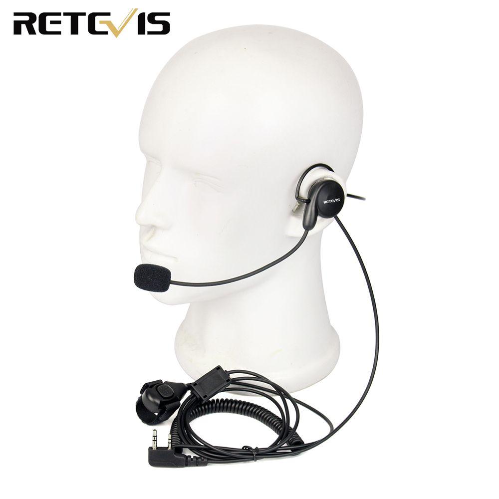 Rechape 2 broches oreillette micro doigt PTT casque pour Kenwood BAOFENG UV-5R BF-888s rechape H777 TYT Ham Radio talkie-walkie casque