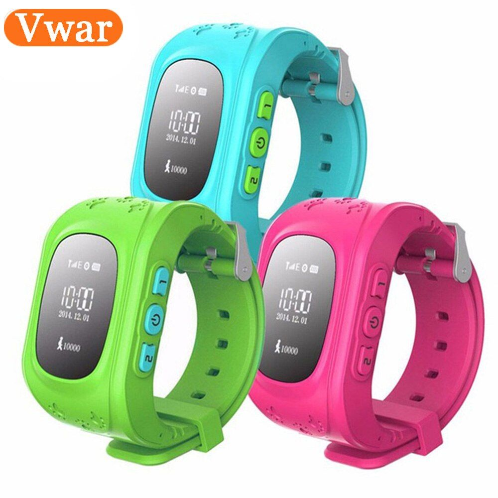 Q50 GPS Enfants Fort À Puce Montre SOS Appel Location Finder localisateur Tracker Montres pour Enfant Anti Perdu Moniteur Bébé Fils montre-bracelet