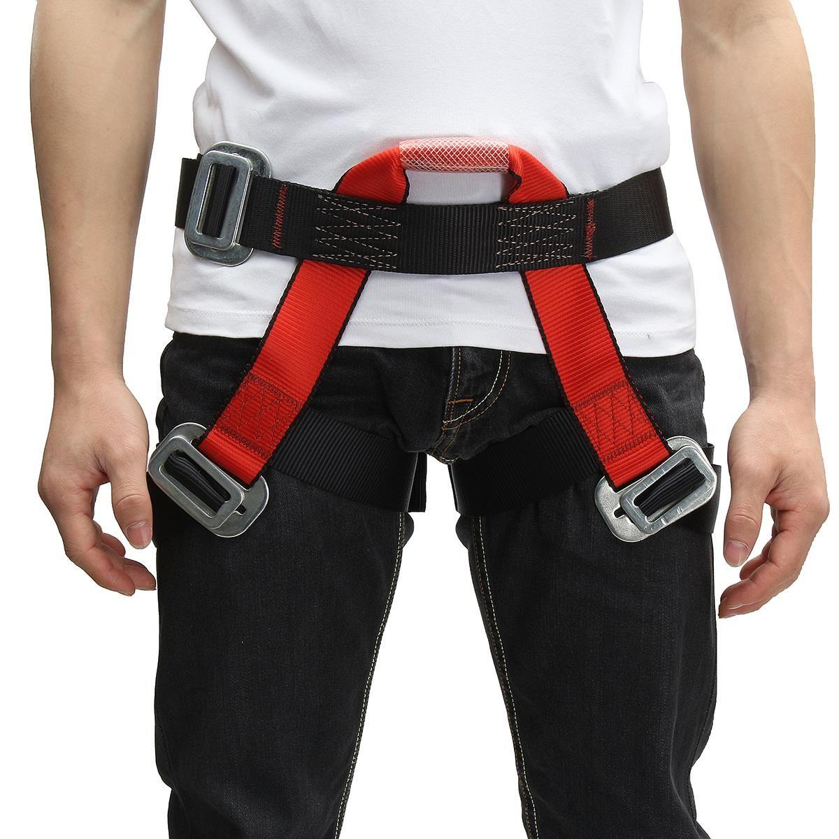 Outdoor Klettern Sicherheitsgurt Halbkörper Schutz für Klettern Downhill Harness Rappel Sicherheitsgurt klettern zubehör