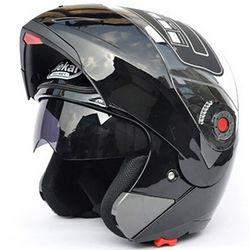 Jiekai 105 motocicleta del casco tirón encima del doble viseras casco Racing full face moto casco SizeM-2XL cascos de motocicleta