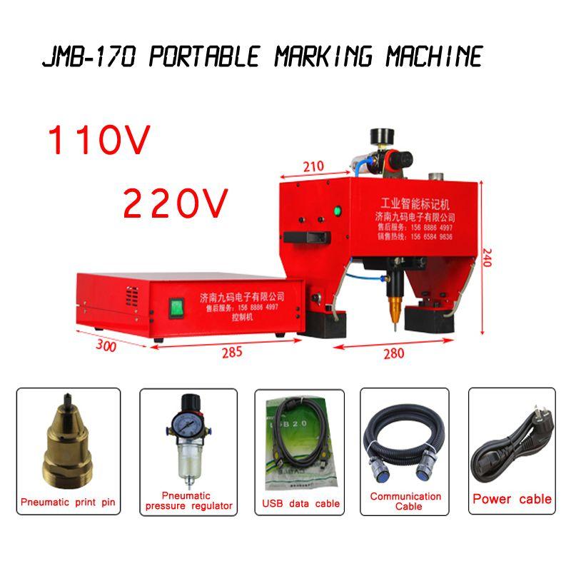 JMB-170 Tragbare Kennzeichnung Maschine Für VIN Code Pneumatische Dot Peen Kennzeichnung Maschine 170x110mm Unterstützung Windows XP/ WIN 7 110/220 V