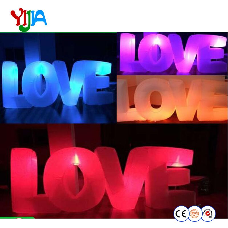 Inflatable Letter LOVE LED Lighting Nice Look High Quality Inflatable Lighting Wedding Party Decorations For Sale